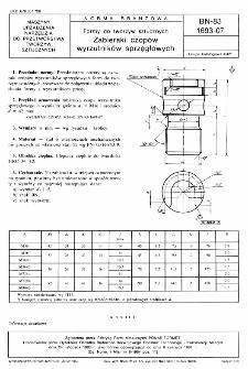 Formy do tworzyw sztucznych - Zabieraki czopów wyrzutników sprzęgłowych BN-83/1693-07