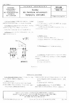 Formy do tworzyw sztucznych - Sprężyny zderzaka BN-86/1693-10