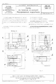 Formy do tworzyw sztucznych - Przyspieszacze wypychaczy BN-86/1693-12