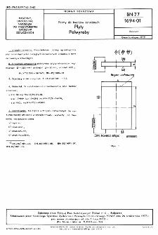 Formy do tworzyw sztucznych - Płyty - Półwyroby BN-77/1694-01