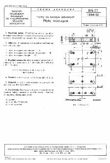Formy do tworzyw sztucznych - Płyty mocujące BN-77/1694-02