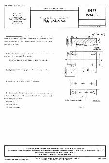 Formy do tworzyw sztucznych - Płyty podporowe BN-77/1694-03
