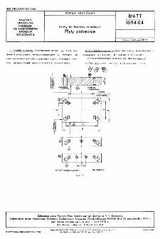 Formy do tworzyw sztucznych - Płyty pośrednie BN-77/1694-04