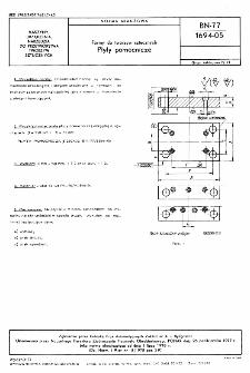 Formy do tworzyw sztucznych - Płyty pomocnicze BN-77/1694-05
