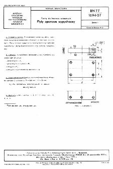 Formy do tworzyw sztucznych - Płyty oporowe wypychaczy BN-77/1694-07