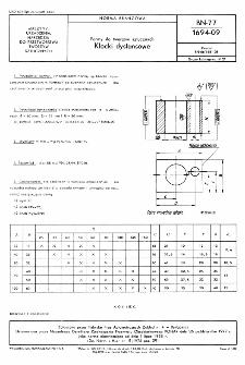 Formy do tworzyw sztucznych - Klocki dystansowe BN-77/1694-09