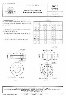 Formy do tworzyw sztucznych - Pierścienie dystansowe BN-77/1694-10