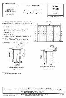 Formy do tworzyw sztucznych - Słupy i tuleje oporowe BN-77/1694-11