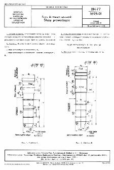 Formy do tworzyw sztucznych - Słupy prowadzące BN-77/1695-01