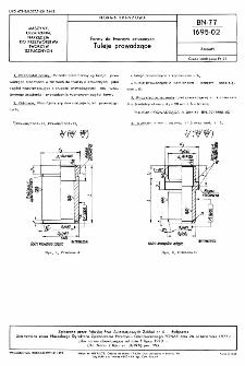 Formy do tworzyw sztucznych - Tuleje prowadzące BN-77/1695-02