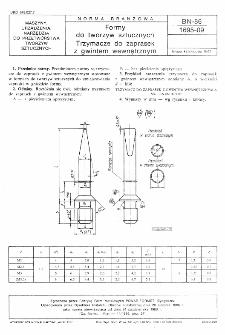 Formy do tworzyw sztucznych - Trzymacze do zaprasek z gwintem wewnętrznym BN-86/1695-09