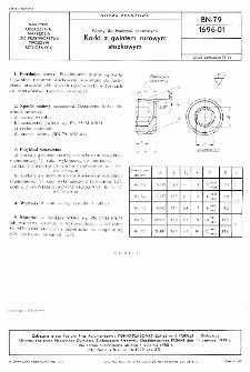Formy do tworzyw sztucznych - Korki z gwintem rurowym stożkowym BN-79/1696-01