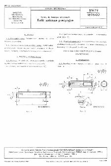 Formy do tworzyw sztucznych - Kołki walcowe precyzyjne BN-79/1696-02