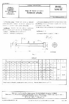 Formy do tworzyw sztucznych - Zabieraki wlewka BN-80/1696-03