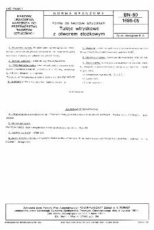 Formy do tworzyw sztucznych - Tuleje wtryskowe z otworem stożkowym BN-80/1696-05