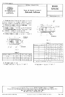 Formy do tworzyw sztucznych - Zatrzaski kulkowe BN-80/1696-06
