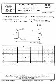 Formy do tworzyw sztucznych - Słupy skośne z kołnierzem BN-80/1696-07