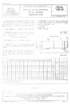 Formy do tworzyw sztucznych - Słupy skośne bezstopniowe BN-80/1696-08