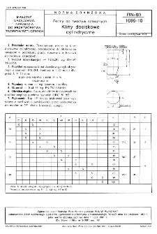 Formy do tworzyw sztucznych - Kliny dociskowe cylindryczne BN-80/1696-10