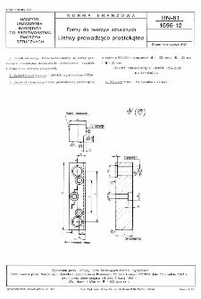 Formy do tworzyw sztucznych - Listwy prowadzące prostokątne BN-81/1696-12