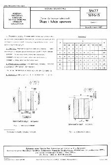 Formy do tworzyw sztucznych - Słupy i tuleje oporowe BN-77/1696-15