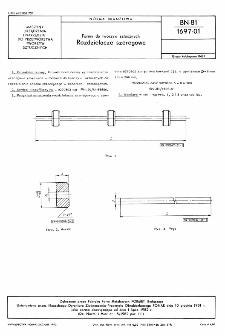 Formy do tworzyw sztucznych - Rozdzielacze szeregowe BN-81/1697-01