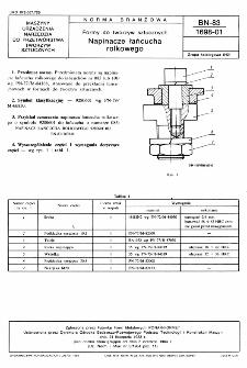 Formy do tworzyw sztucznych - Napinacze łańcucha rolkowego BN-83/1698-01