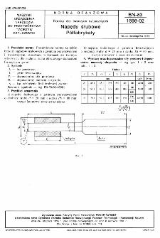 Formy do tworzyw sztucznych - Napędy śrubowe - Półfabrykaty BN-83/1698-02